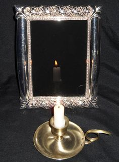 Fleur-de-lis Silver Scrying Mirror Made on the Full Buck Moon