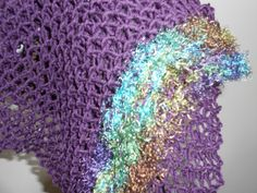 Hand Knit Purple Fashion Scarf and Hat by TattooedTextiles on Etsy