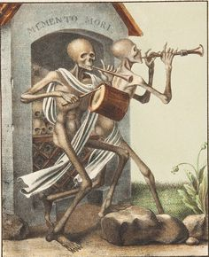 The ossuary from Basel's dance of death by Hieronymus Hess