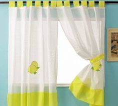 MAS CORTINAS - CORTISAN Cute Curtains, Tab Top Curtains, Window Art, Kitchen Curtains, House Design, Windows, Lily, Inspiration, Remodeling