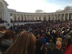 Opening Ceremonies at the Memorial Amphitheater, Arlington National Cemetery, National Wreaths Across America Day 2012. #veterans