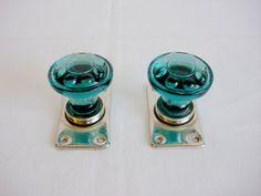 Vintage Turquoise Glass Decorative Doorknob от OldMoscowVintage