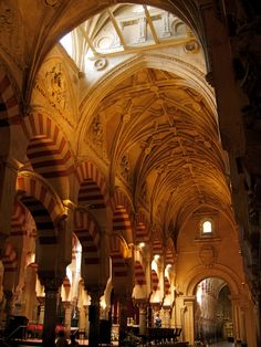 The Mosque of Córdoba.....one of the highlights in the former capital of Moorish Spain... http://www.costatropicalevents.com/en/costa-tropical-events/andalusia/cities/cordoba.html