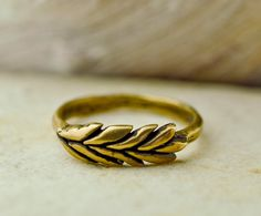 Custom Listing for Madison: Bronze Wheatgrass Ring. $40.00, via Etsy.