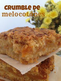 Cook the cake: Crumble de melocotones