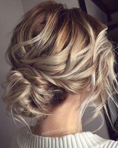 Low Bun Wedding Hair, Elegant Wedding Hair, Braided Hairstyles For Wedding, Wedding Hair And Makeup, Bride Hairstyles, Messy Hairstyles, Hairstyle Wedding, Hairstyle Ideas, Office Hairstyles