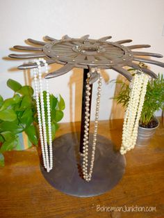 Jewelry holder -a re-purposed project