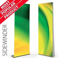 Sidewinder TWIN Roller Banner Stands Cassettes with Graphics
