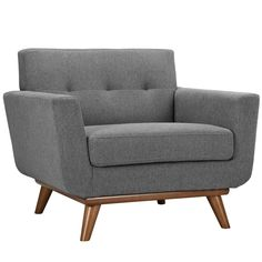 Modway Furniture Modern Engage Armchair and Sofa Set of 2 - 3 Piece Living Room Set, Living Room Sets, Living Room Chairs, Blue Lounge, Fabric Armchairs, Chair Fabric, Loveseat Sofa, Sofa Set, Sectional Sofa