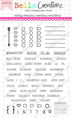 """Planner Stamp Clear Stamp Set """"planNERD"""" - Perfect for your planner, Filofax, Erin Condren, lists, journals etc. by bellacreationz4u on Etsy https://www.etsy.com/listing/189946816/planner-stamp-clear-stamp-set-plannerd"""