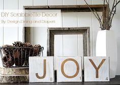 DIY Scrabble Tile Joy Sign Tutorial