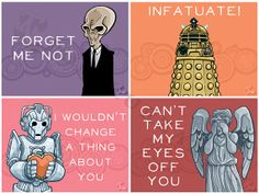Doctor Who valentine cards. Nice!