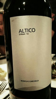 Altico Syrah 2013 - DO Jumilla - Bodegas Carchelo (Murcia) - Vino tinto con crianza, envejecido durante 12 meses en barricas de roble francés - 100% Syrah - 14,5%