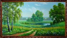 Поляна лесных ромашек - Летний пейзаж <- Картины маслом <- Картины - Каталог | Универсальный интернет-магазин подарков и сувениров