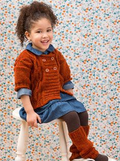 Dress your little one up in something extra special with the Sweat Treat Cardigan pattern. Featuring an adorable cable pattern for extra warmth, this knit cardigan pattern is a wonderful way to keep your child warm.