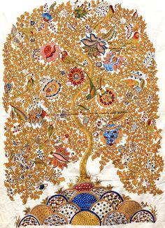Pure Ghee Designs : Kalamkari paintings for Samode Safari Lodge Ancient Indian Art, Indian Folk Art, Kalamkari Painting, Tree Of Life Art, Madhubani Art, Madhubani Painting, Hindu Art, Traditional Paintings, Tribal Art