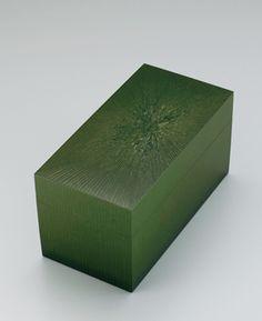 Green Japanese Lacquer Art Box