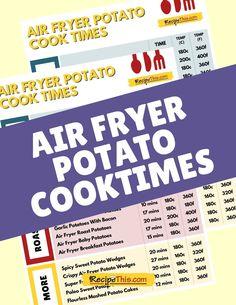 Air Fryer Fries, Air Fryer French Fries, Air Fryer Recipes Snacks, Air Frier Recipes, How To Convert A Recipe, Air Fryer Cooking Times, How To Cook Potatoes, Easy Casserole Recipes, Air Frying