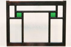 時代家具建具の店 古福庵 / 煌びやかな3種のガラスでレトロな小型ガラス窓 E5998 在庫2枚