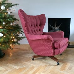 Custom vintage G Plan 6250 Swivel Chair restored by Florrie+Bill in Bute Wool - Ramshead Design
