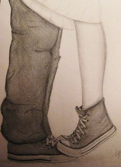 cute converse drawing couples - Google Search