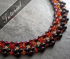 Beadweaving Pattern, Equinox Right Angle Weave Beaded Necklace, Collar Tutorial, Step by Step with Detailed Diagrams, Round or V Neckline
