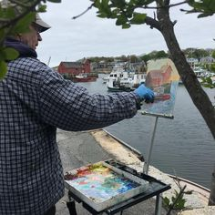 "Rockport Exchange on Instagram: ""Live artist paint out #motif1 #motif1day #community #culture #arts #paintoutside"""