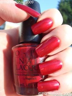 I'm Really Not a Waitress - OPI  I need a new good classic red OPI Polish... not too orange, but not burgundy, just classic red!