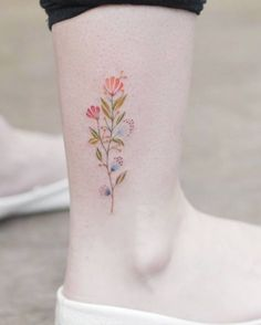 Colorful floral sprig by Tritoan Ly