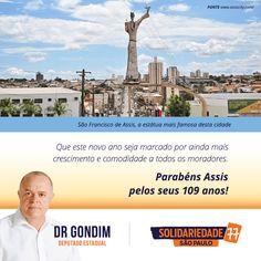 Que este ano venha repleto de prosperidade para Assis e seus moradores. #FichaLimpa #77000 #DrGondim #votedrgondim77000