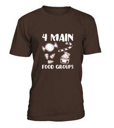 Men S 4 Main Food Groups Candy Elf Shirt Large Cranberry
