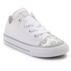 hot sale online 9f599 cc6cc Shimmer down with the dazzling new Chuck Taylor All Star Lo Glitter Sneaker  from Converse! These glitzy Chucks rock a low-top design constructed with  sturdy ...