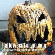 Corpsing A Pumpkin - You've corpsed a skeleton so why haven't you corpsed a pumpkin?  Seriously.  Foam pumpkins look great when they're carved up, but they look even better after a quick corpsification, just ask kloey74 who posted the My Creepy Pumpkin Tutorial over at The HalloweenForum.  The foam pumpkin that she modified looks amazing, and when you consider how many Halloween props require a foam pumpkin you'd be foolish not to try something new.