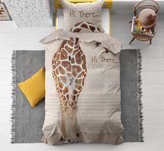 Dreamhouse Hi Giraffe Taupe Dekbedovertrek - Taupe, Giraffe, Home Decor, Lifestyle, Beige, Homemade Home Decor, Felt Giraffe, Decoration Home, Interior Decorating