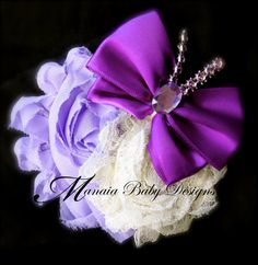 Lavender and Purple Butterfly Hair Clip by ManaiaBabyDesigns, $7.50