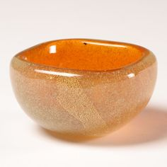 "Carlo Scarpa, ""Bollicine Murano Glass Bowl,"" c. 1935, Murano (http://www.antiquehelper.com/item/326321)"