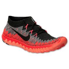 Nike Free 3.0 Flyknit Mens Running Workout Shoes Black Crimson University Red (10.5)