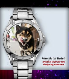 Metal Watches Shiba Dog #3 Men's Sport Watch | purecases - Jewelry on ArtFire