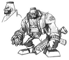 View an image titled 'Barret Early Sketch' in our Final Fantasy VII art gallery featuring official character designs, concept art, and promo pictures. Final Fantasy Characters, Final Fantasy Art, Fantasy Concept Art, Fantasy Series, Final Fantasy Collection, V Video, Game Character Design, Cool Drawings, Game Art