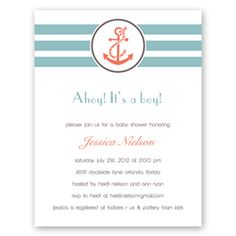 Love the coral and turquoise colors for nautical party!
