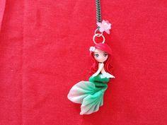 Collar pequeña sirena en fimo arcilla polimérica por Artmary2, €12.00