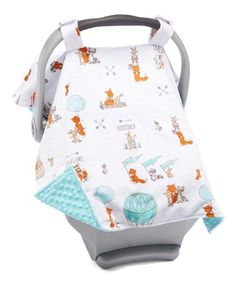 Another great find on Blue Woodland Friends Car Seat Canopy Cozy Cover, Seat Covers, Travel Accessories, Canopy, Little Ones, Baby Car Seats, Woodland, Friends, Blue