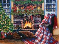 snug as a doggie on a rug by Diane Phalen