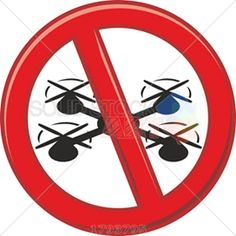 Red circle prohibition vector sign no drones on white square Drones, Vector Free, Illustration, Sign, Electronics, Red, Image, Signs, Illustrations