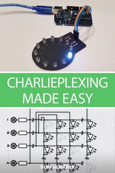 Charlieplexing is a technique for driving multiple LEDs with relatively few pins on a microcontroller. It is a quick, cheap and easy way to add multiple LEDs to your arduino projects. #electronics #simulation #CAD #Tinkercad #python