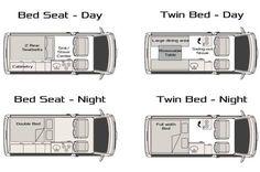 Výsledek obrázku pro toyota hiace campervan layout