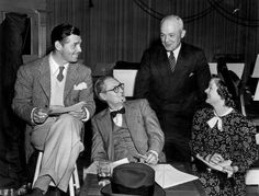 Clark Gable, Lionel Barrymore, and Myrna Loy (Hollywood Stars Press Photo) 1938