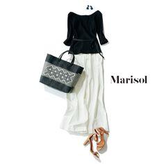 女っぷりモノトーンコーデから上品ベージュコーデまで【アラフォー春の1週間コーデ】|Marisol ONLINE|女っぷり上々!40代をもっとキレイに。
