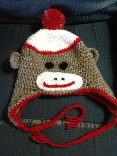 Sock Monkey Hat on Etsy, $20.00