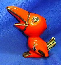 Vintage German Cortendorf Art Pottery Raven Figurine #BR